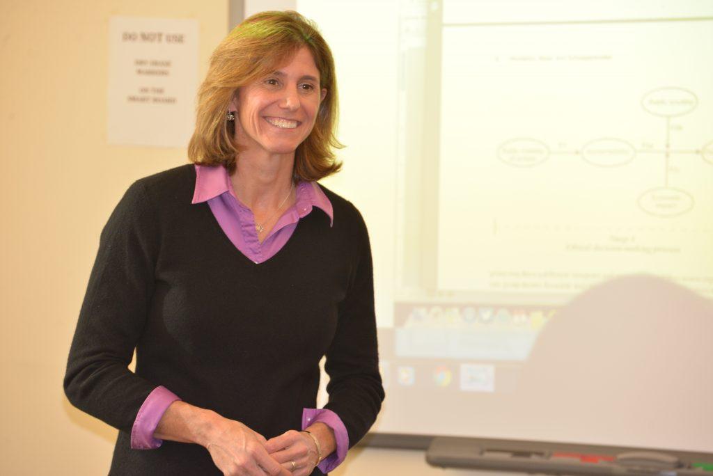 Dr. Laura Burton teaching