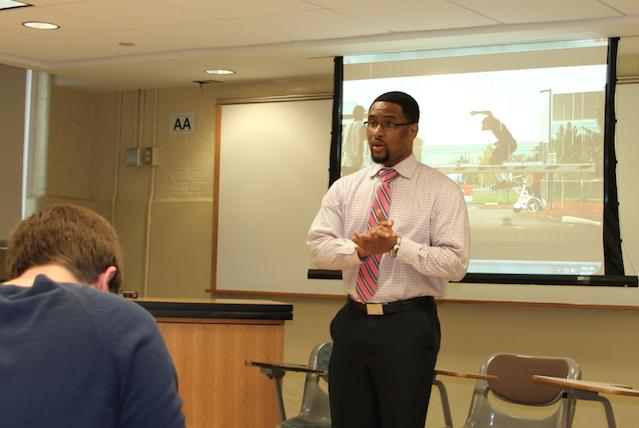 Dr. Joseph Cooper teaching class