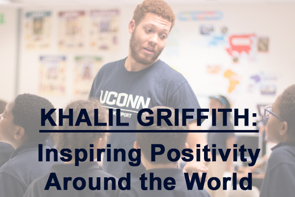 Khalil Griffith engaging with youth from Hartford