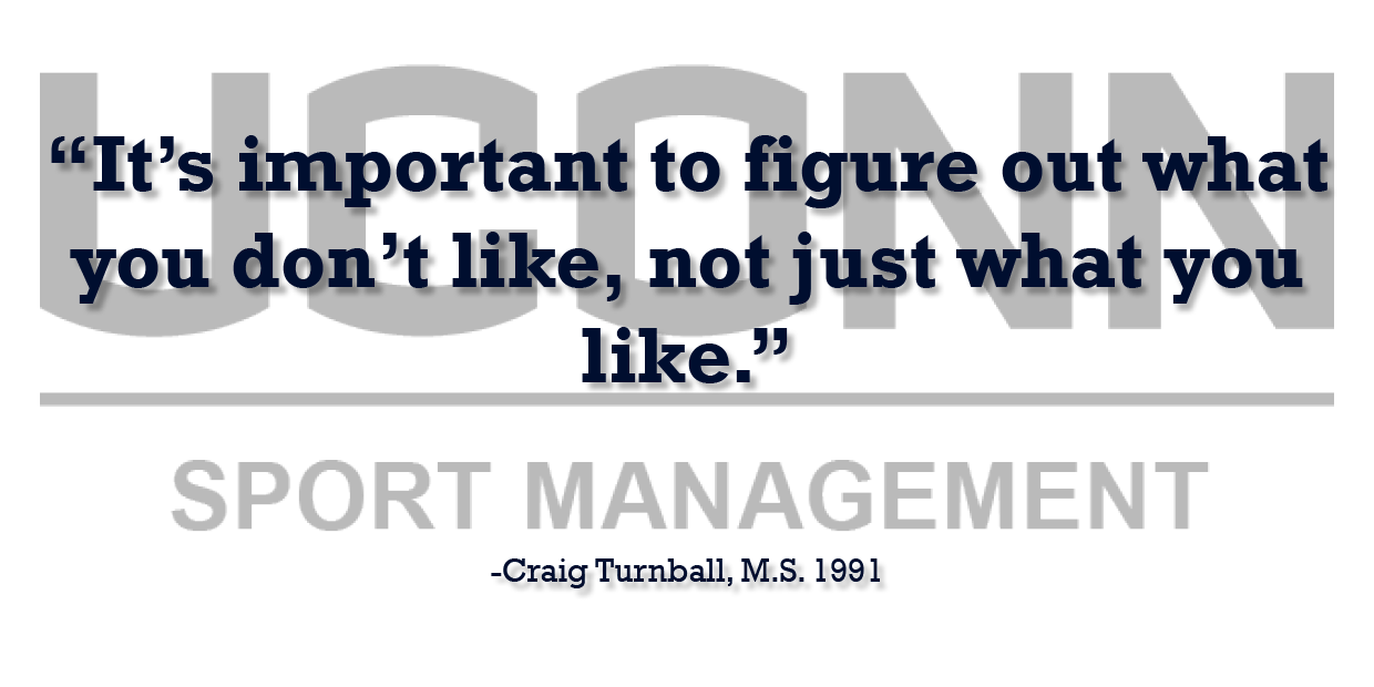 Sports Management Alumnus Craig Turnball offers professional advice testimonial