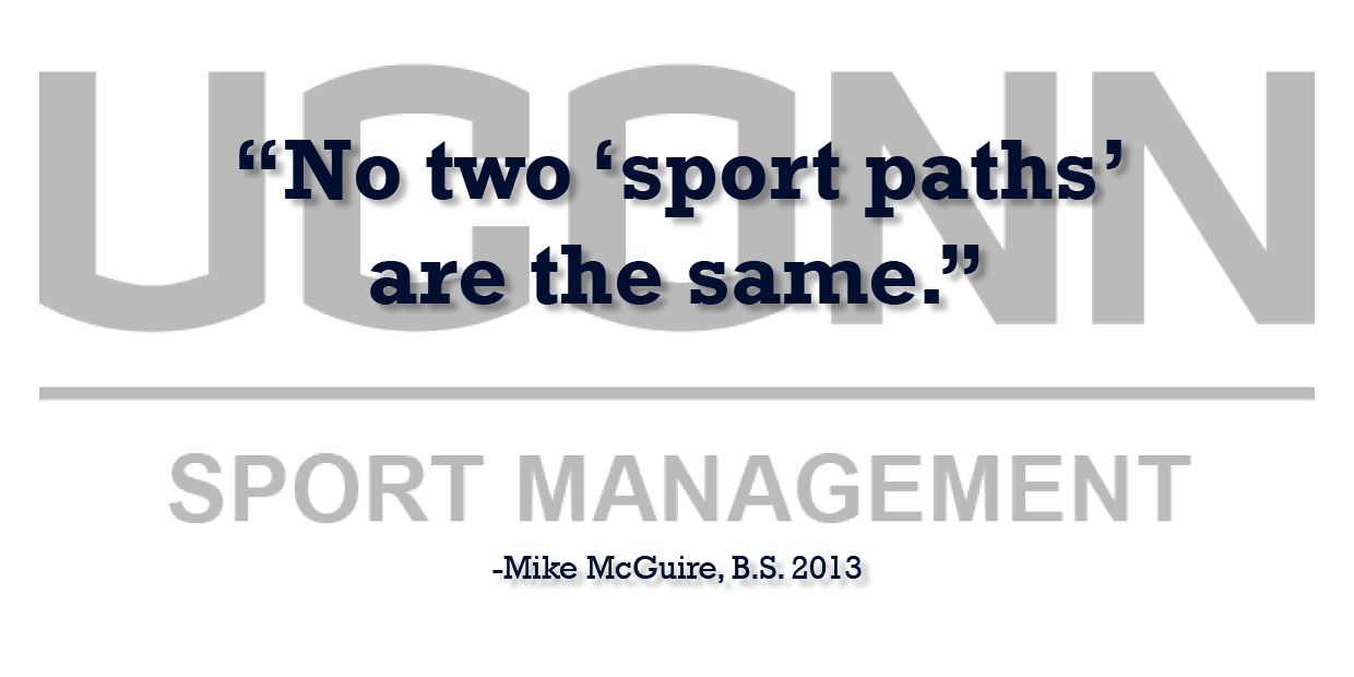 Sports Management Alumnus Mike McGuire offers professional advice testimonial