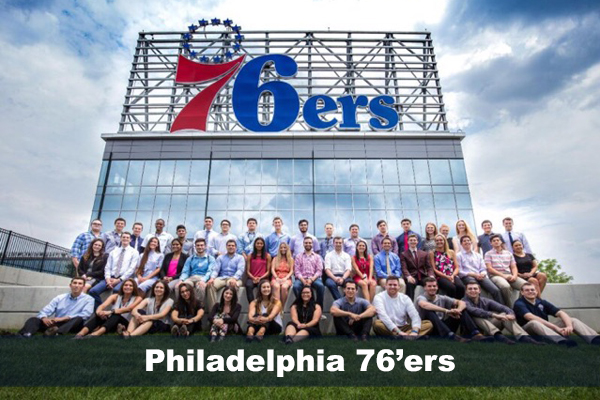 Internship with 76'ers