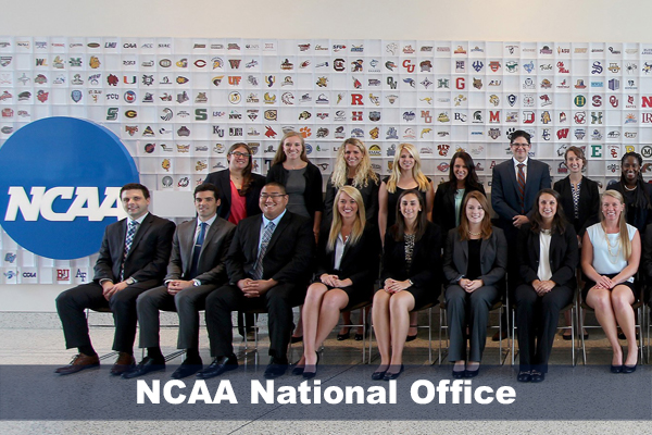 Jackie Kelly with a group of NCAA interns as part of SPM internship program.