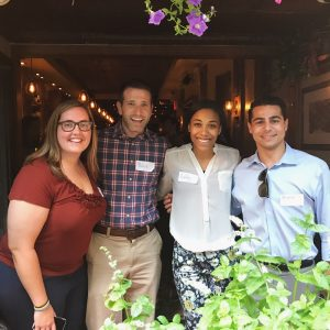 Sport Management alumni pictured together at the Happy Hour event at Cask Restaurant in NYC.