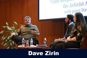 Dave Zirin speaking to the Beyond the Field speaker series attendees (Photo credit, Zhelun Lang from The Daily Campus)