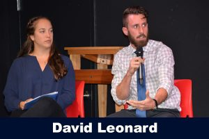 Sofia Read and Charlie Macaulay at the Beyond the Field speaker series, fall 2016