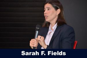 Sarah F. Fields speaking to Beyond the Field Series Attendees