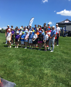 A photo that Maddy Hooper included in her internship experience of students during summer golf lessons.