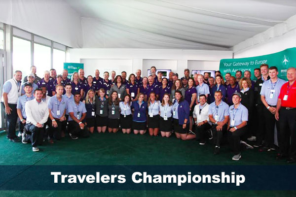 Travelers Championship group photo, summer 2017