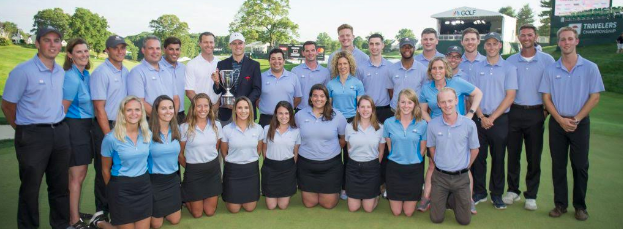 Travelers Championship Internship group photo, summer 2017