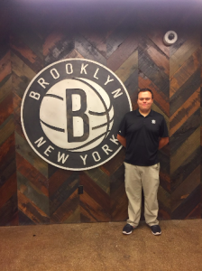 Paul Wettemann, Sport Management undergraduate student, interns with the Brooklyn Nets Facility Operations Department.
