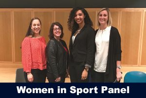 Women in sport panelist with Sofia Read at April 25, 2018 event