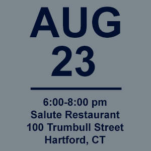Aug 23 invitation to Salute Rest. in Hartford, CT