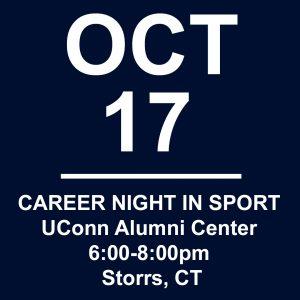 Oct 17 career night in sport event