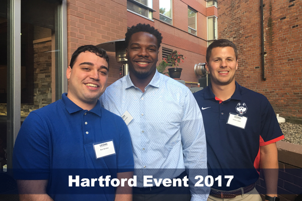 Sport Management alumni and friends gathered for an evening of networking on Aug. 24, 2017.
