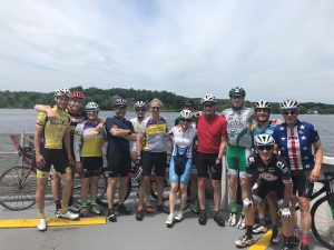 Cyclists from Brian Wolfe's summer internship 2018