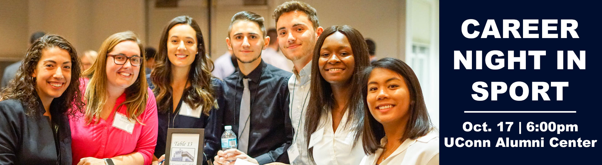 Students gathered together during OCT 2017 Career Night in Sport event.