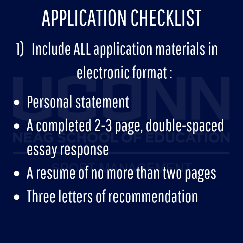 Application checklist details page 1