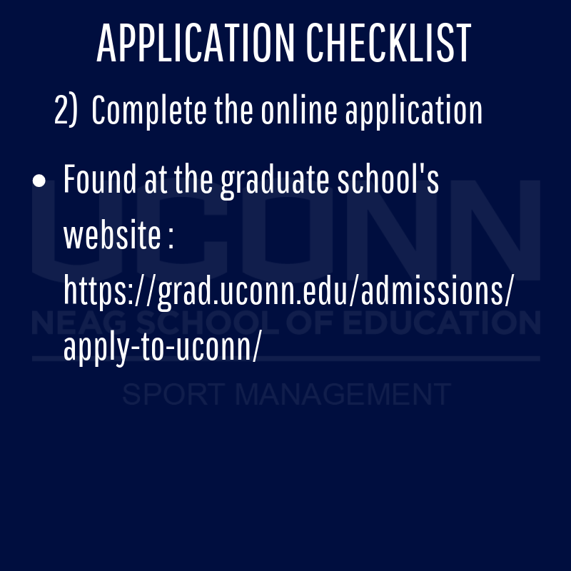 Application checklist details page 2