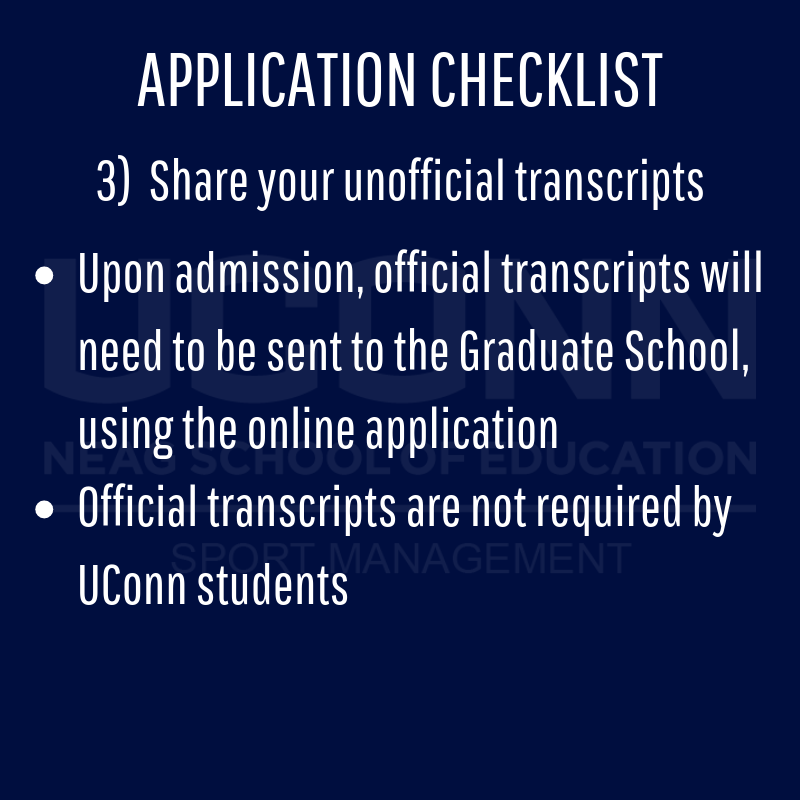 Application checklist details page 3