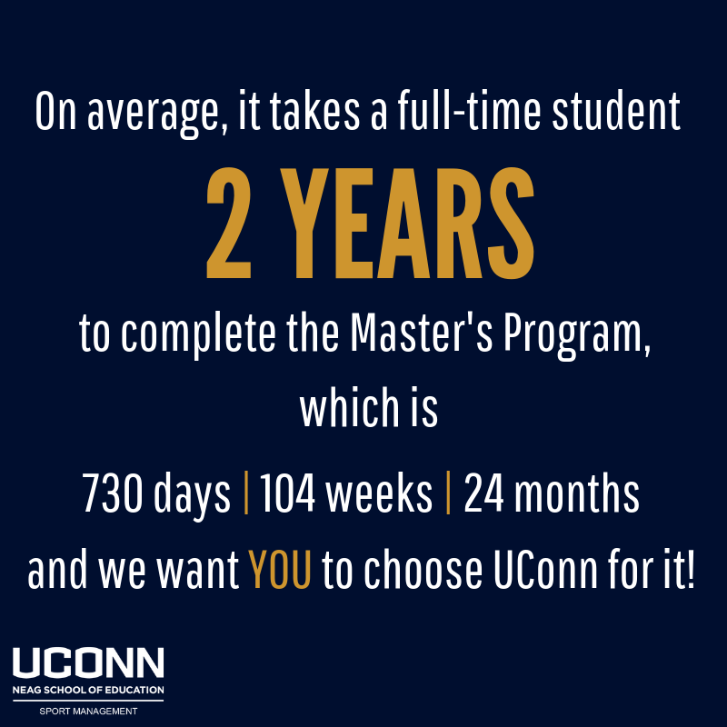 Time it takes to complete the degree